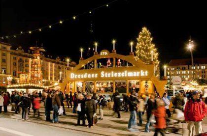 Striezelmarkt in Dresden mit Freiberg und Seiffen