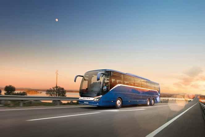 Abholung Bus vom Werk